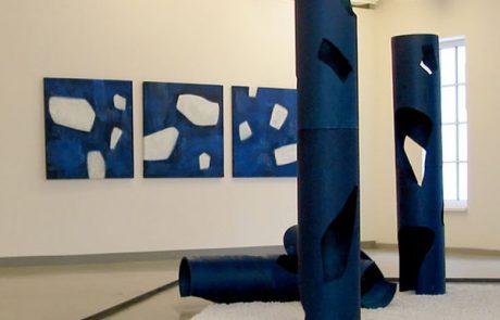 Kunstausstellung Blau